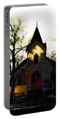 Portable Battery Charger featuring the digital art Church I by Stuart Turnbull