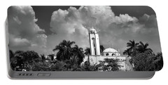 Portable Battery Charger featuring the photograph Church In Black And White by Jim Walls PhotoArtist