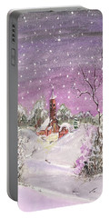 Church In The Snow Portable Battery Charger