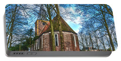 Church In Winsum Portable Battery Charger by Frans Blok