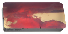 Church Of Saint Nicholas At Sunset Portable Battery Charger