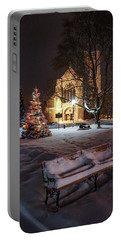 Portable Battery Charger featuring the photograph Church Of St Mary St Paul At Christmas by Kendall McKernon