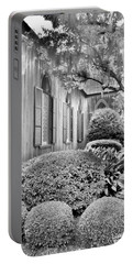 Church Of The Cross Bluffton Sc Black And White Portable Battery Charger