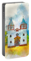 Church Of The Holy Family Portable Battery Charger by Greg Collins
