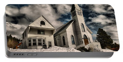 Portable Battery Charger featuring the photograph Church Of The Immaculate Conception Roslyn Wa by Jeff Swan