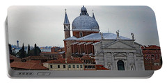 Church Of The Santissimo Redentore On Giudecca Island In Venice Italy Portable Battery Charger