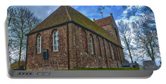 Church On The Mound Of Oostum Portable Battery Charger by Frans Blok