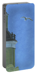 Church Steeple With Seagull Portable Battery Charger