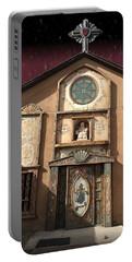 Church With Heartfelt Sky Portable Battery Charger