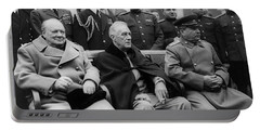 Churchill, Roosevelt And Stalin Portable Battery Charger