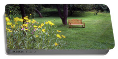 Churchyard Bench - Woodstock, Vermont Portable Battery Charger