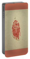 Portable Battery Charger featuring the painting Cicada Chop by Debbi Saccomanno Chan