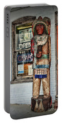 Portable Battery Charger featuring the photograph Cigar Store Indian by Paul Ward