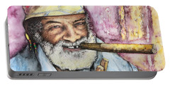 Cigars And Cuba Portable Battery Charger by Victor Minca