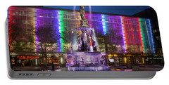 Cincinnati Fountain Square Portable Battery Charger by Scott Meyer