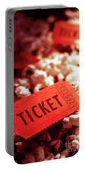 Cinema Ticket On Snackbar Food Portable Battery Charger