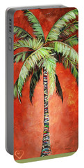 Cinnamon Palm Portable Battery Charger by Kristen Abrahamson