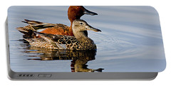 Cinnamon Teal Pair Portable Battery Charger
