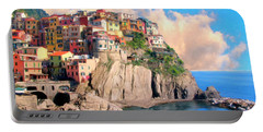 Cinque Terre Portable Battery Charger by Dominic Piperata
