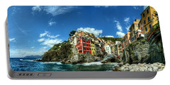 Cinque Terre - View Of Riomaggiore Portable Battery Charger