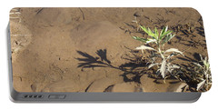 Portable Battery Charger featuring the photograph Circle Shadow Plant by Marie Neder