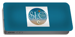 Circle Slo My Happy Place- Seascape Colors Portable Battery Charger