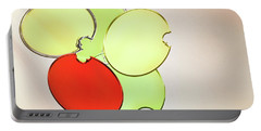 Circles Of Red, Yellow And Green Portable Battery Charger