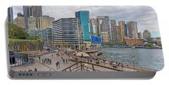 Portable Battery Charger featuring the photograph Circular Quay, Sydney, Australia by Elaine Teague