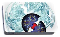 Portable Battery Charger featuring the digital art Circularium No 2635 by Alan Bennington
