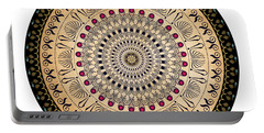 Portable Battery Charger featuring the digital art Circularium No 2637 by Alan Bennington