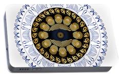 Portable Battery Charger featuring the digital art Circularium No 2638 by Alan Bennington