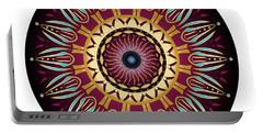 Portable Battery Charger featuring the digital art Circularium No 2639 by Alan Bennington