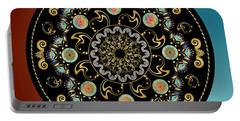 Portable Battery Charger featuring the digital art Circularium No 2640 by Alan Bennington