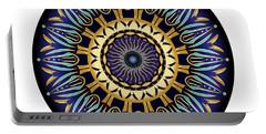 Portable Battery Charger featuring the digital art Circularium No 2641 by Alan Bennington