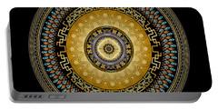 Portable Battery Charger featuring the digital art Circularium No 2642 by Alan Bennington