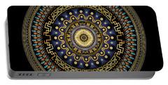 Portable Battery Charger featuring the digital art Circularium No 2643 by Alan Bennington