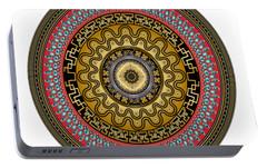 Portable Battery Charger featuring the digital art Circularium No. 2644 by Alan Bennington
