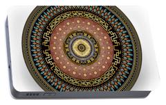 Portable Battery Charger featuring the digital art Circularium No 2645 by Alan Bennington