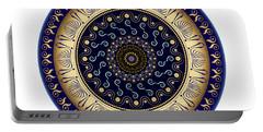 Portable Battery Charger featuring the digital art Circularium No 2648 by Alan Bennington