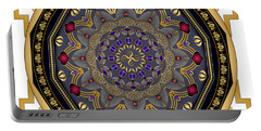 Portable Battery Charger featuring the digital art Circularium No 2652 by Alan Bennington