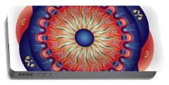 Portable Battery Charger featuring the digital art Circularium No 2655 by Alan Bennington