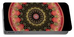 Portable Battery Charger featuring the digital art Circularium No 2659 by Alan Bennington