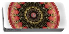 Portable Battery Charger featuring the digital art Circularium No 2660 by Alan Bennington