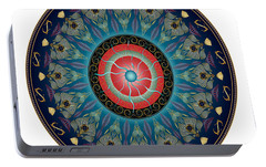 Portable Battery Charger featuring the digital art Circularium No 2661 by Alan Bennington
