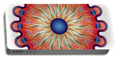 Portable Battery Charger featuring the digital art Circularium No 2664 by Alan Bennington