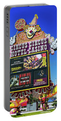 Circus Circus Sign In The Day Portable Battery Charger