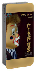 Portable Battery Charger featuring the photograph Circus Clown By Kaye Menner by Kaye Menner