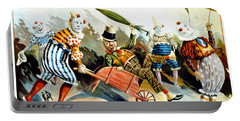 Circus Clowns - Vintage Circus Advertising Poster Portable Battery Charger