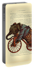 Circus Elephant On Bicycle Portable Battery Charger