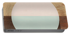Cirkel In Peach And Mint- Art By Linda Woods Portable Battery Charger by Linda Woods